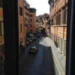 View ont the side street from the Giulio Cesare room.