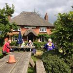 The large beer garden