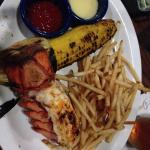 Lobster tail, grilled corn - just right!