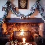 Forter Fireplace at Christmas