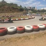 Local karting track, 5 minute walk away.
