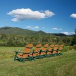 Adirondack Chairs facing the Mts @ South Meadow Farm Lodge