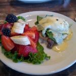The Vegetarian Benny W/ Fresh Succulent Fruit.