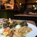 An amazing find in Gent for the hungry vegetarians. Such good food, deep flavored, and a hearty