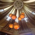Biaggi's Italian Ristorante - overhead lights in entrance
