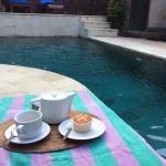 Afternoon tea by the pool.