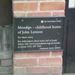 Sign outside Mendips; Lennon's home
