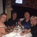 Enjoying a great Dinner w/friends.