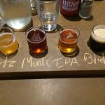 beer flight on table tour