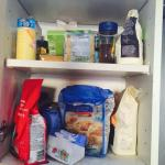 Open food packets left in cupboards