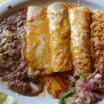 Three Enchilada Plate