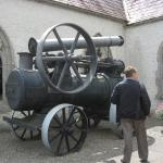 A static engine outside the museum