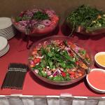 Spinach Salad & Candied Walnut Salad (in front)