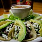 Taco's Reynosa with Avocado and Charro Beans