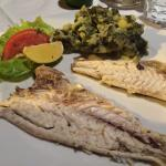 Excellent fresh, local fish and wine, service and atmosphere with acoustic blues music in the ba