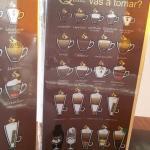 Opciones de café