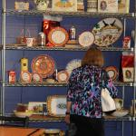 Display of Italian Pottery at Deli