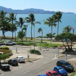 View from our top floor apartment balcony, of The Strand and Magnetic Island