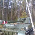 """Один из """"танков"""" у отеля (вообще-то это САУ 2С3)"""
