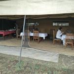 Dining area in Mbugani