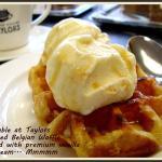 Sweet Belgian Waffle & Vanilla Ice Cream