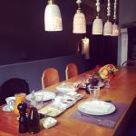 Η τραπεζαρία..το καπληκτικό πρωινό μας!