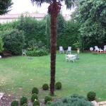 La vue sur le jardin depuis la chambre