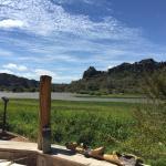 La vue sur le lac et les Tsingy