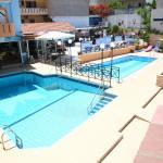 Pools, Sunbed area & Bar