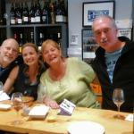 Our lovely C&G Tour group on 15 Sept 2015,  at Lache Pas La Grappe Wine Bar