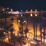 Vista nocturna desde nuestra terraza
