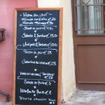 The menu of the day when we visited. It did seem to change regularly