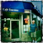 Cafe Toscana is off a central park in downtown Wilkes Barre, PA.
