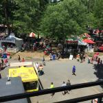 Saratoga Race Course is like a giant festival