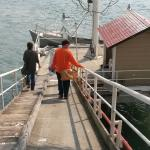 Steep access to boat.  You also have to climb a narrow metal ladder