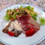 La délicieuse salade de cailles