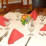 Table Setting at our On-Site Restaurant