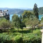 Bled Lake, view from my room - last one on the right on first floor.