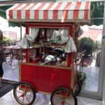 Breakfast pastry cart at Niles