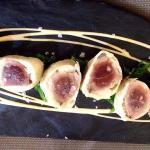 Tartar de lomo negro de atún con ajo blanco