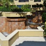 Water fountain in courtyard