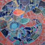 Mosaic design on wall