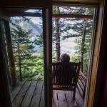 Peekaboo view from the cabin