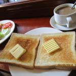 nice coffee & bread