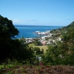 From the top looking down on Levuka township