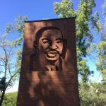 MLK Brick monument