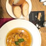 Fish Curry, served with Baguette, just regular.