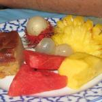 fruits & gateau coco