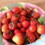 Fresh strawberries for breakfast