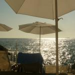 Sun bathing by the sea